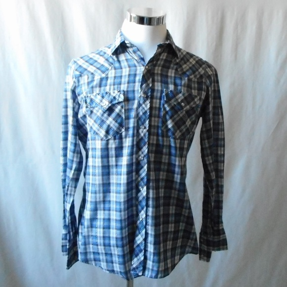 5832313140 Authentic Western Youngbloods Other - Vintage Men's Western Pearl Snap  Button Down